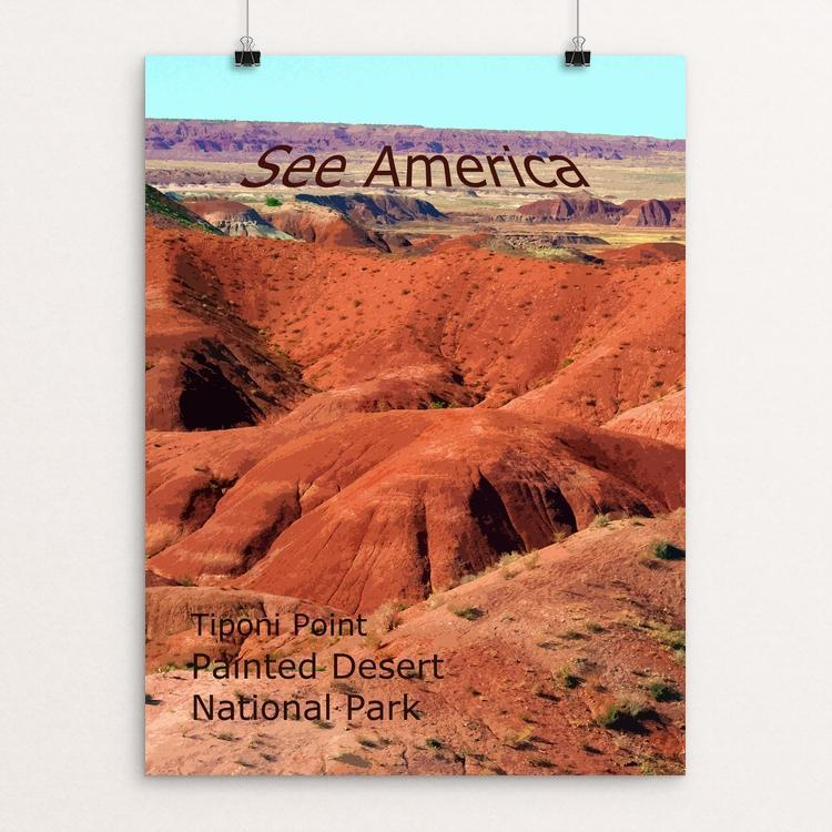"Tiponi Point, Painted Desert National Park by Rodney Buxton 12"" by 16"" Print / Unframed Print See America"