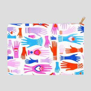 Todos Juntos Eccessory Bag by Andrea Floren 8.5x6 inch w/ White Zipper Tape Accessory Bag Creative Action Network