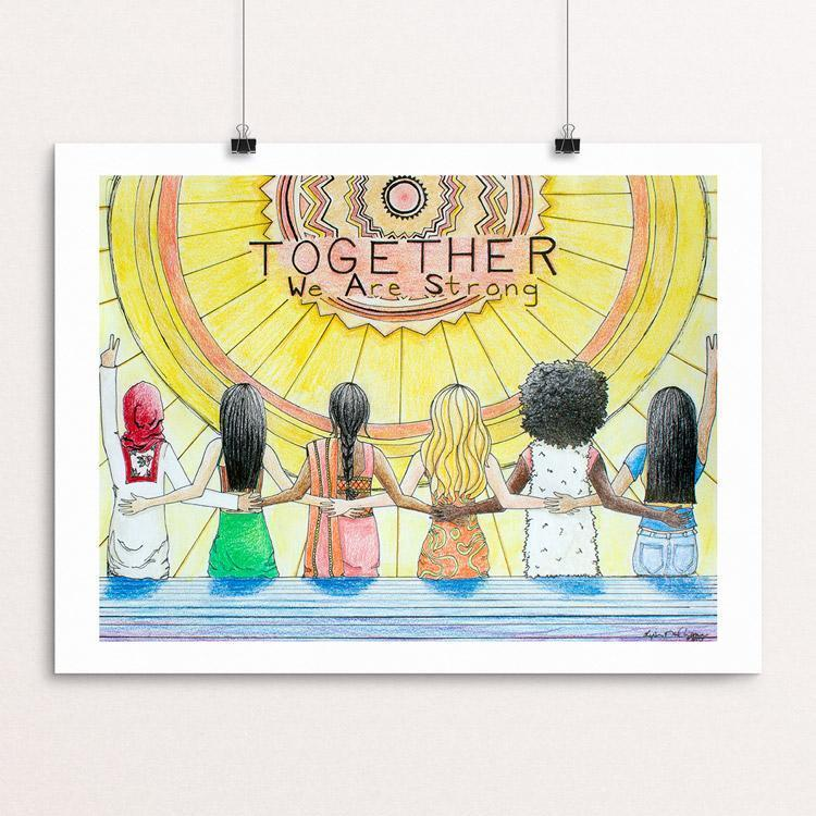 "Together We Are Strong by Lysa DuCharme 12"" by 16"" Print / Unframed Print Creative Action Network"