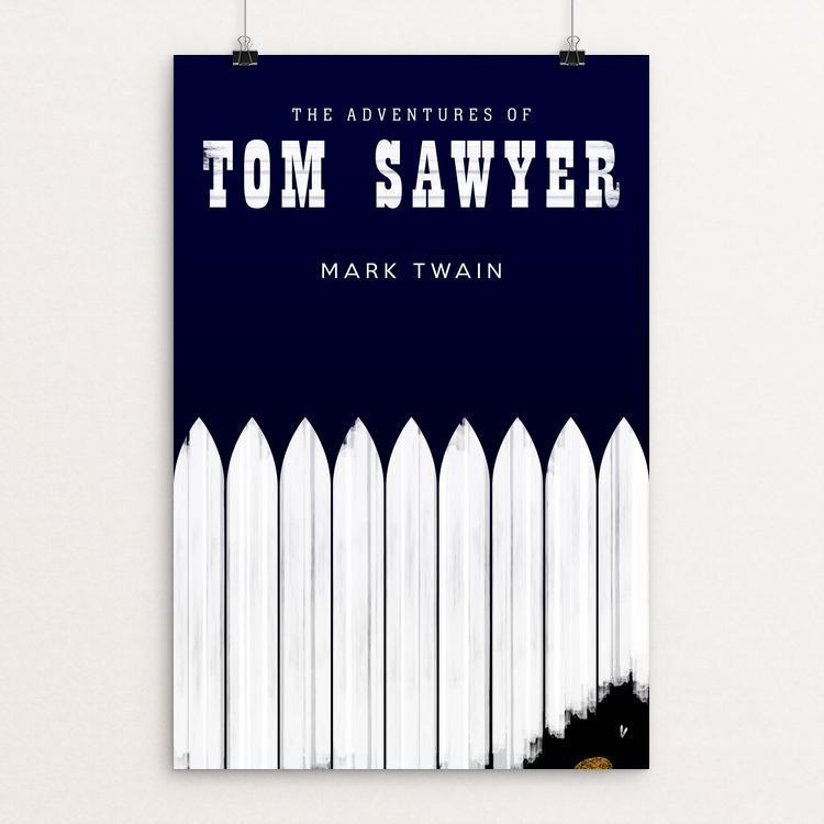"Tom Sawyer 2 by Nick Fairbank 12"" by 18"" Print / Unframed Print Recovering the Classics"