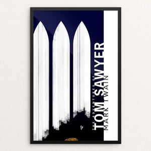 "Tom Sawyer by Nick Fairbank 12"" by 18"" Print / Framed Print Recovering the Classics"