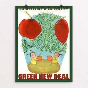 "Tomato Tometo by Yaara Eshet 18"" by 24"" Print / Unframed Print Green New Deal"