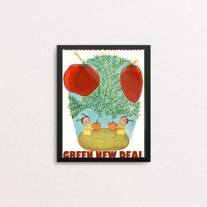 "Tomato Tometo by Yaara Eshet 8"" by 10"" Print / Framed Print Green New Deal"