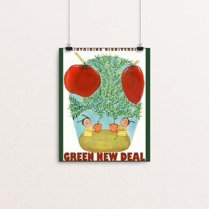 "Tomato Tometo by Yaara Eshet 8"" by 10"" Print / Unframed Print Green New Deal"