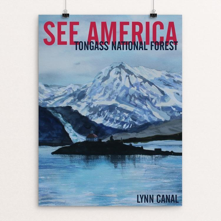 "Tongass National Forest -- Lynn Canal by Bruce and Scott Sink 12"" by 16"" Print / Unframed Print See America"