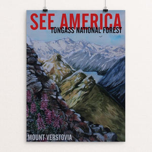 "Tongass National Forest -- Mount Verstovia by Bruce and Scott Sink 12"" by 16"" Print / Unframed Print See America"