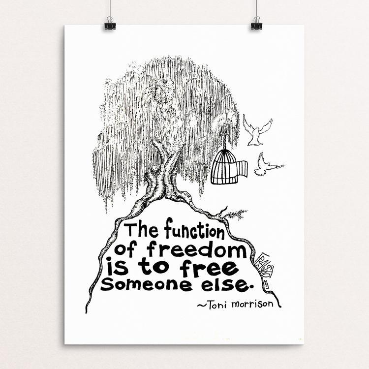 "Toni Morrison Tree Drawing by Rick Frausto 12"" by 16"" Print / Unframed Print Creative Action Network"