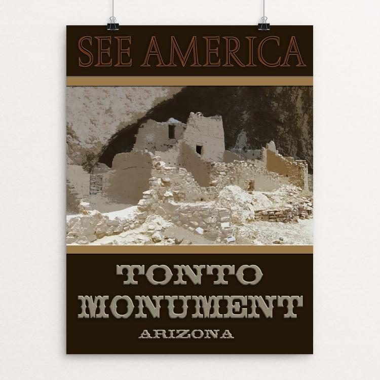"Tonto Monument by Sheri Emerson 12"" by 16"" Print / Unframed Print See America"