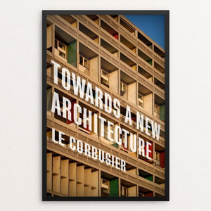 "Towards a New Architecture by Ed Gaither 12"" by 18"" Print / Framed Print Recovering the Classics"