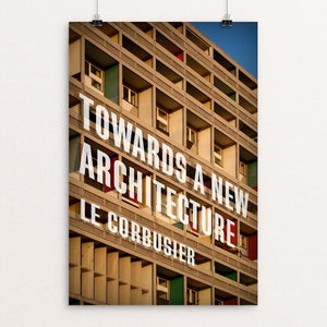 "Towards a New Architecture by Ed Gaither 12"" by 18"" Print / Unframed Print Recovering the Classics"