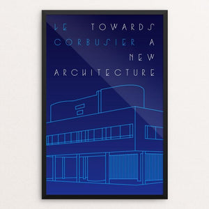 "Towards a New Architecture by Trevor Messersmith 12"" by 18"" Print / Framed Print Recovering the Classics"