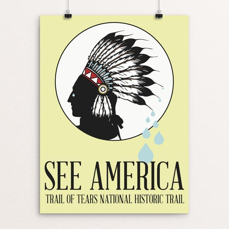 "Trail of Tears National Historic Trail by Dustin Bingaman 12"" by 16"" Print / Unframed Print See America"