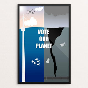 "Trashing the Planet by Addison Miller 12"" by 18"" Print / Framed Print Vote Our Planet"