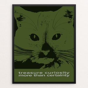 """Treasure Curiosity More Than Certainty"" Illustrated by Roger Gottlieb 16"" by 20"" Print / Framed Print 1200 Posters"