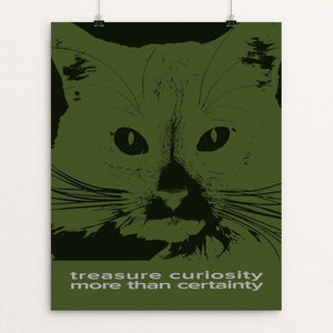 """Treasure Curiosity More Than Certainty"" Illustrated by Roger Gottlieb 16"" by 20"" Print / Unframed Print 1200 Posters"