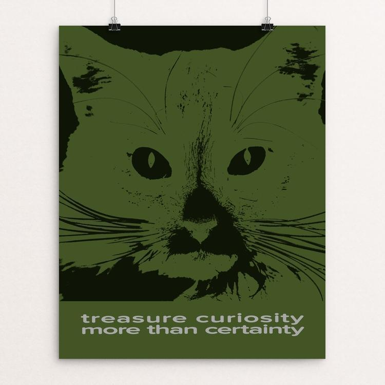 """Treasure Curiosity More Than Certainty"" Illustrated by Roger Gottlieb"