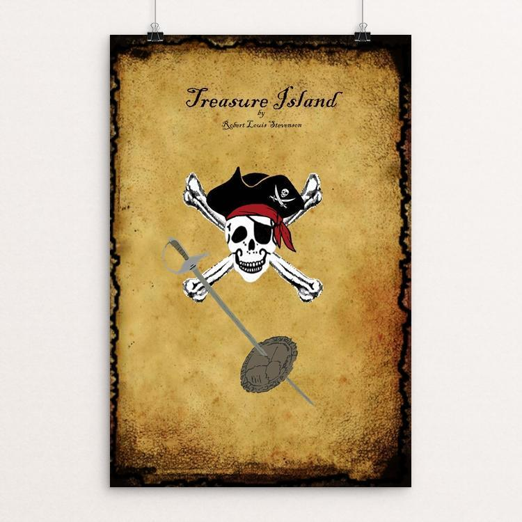 "Treasure Island by Bryan Bromstrup 12"" by 18"" Print / Unframed Print Recovering the Classics"