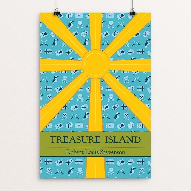 "Treasure Island by Caroline Stoltzfus 12"" by 18"" Print / Unframed Print Recovering the Classics"