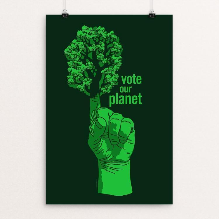 "Tree Proud by Brixton Doyle 12"" by 18"" Print / Unframed Print Vote Our Planet"