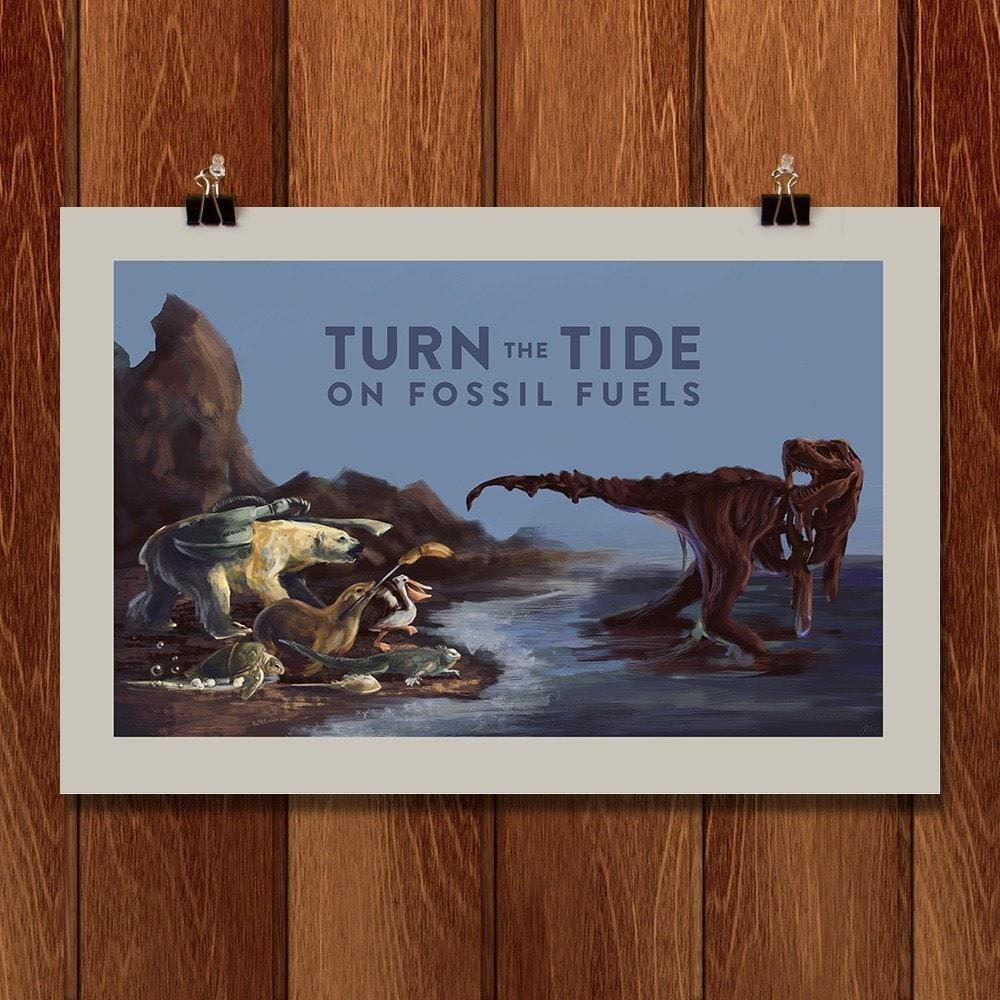 "Triumph Over Oil Spills by Jennifer Ober 18"" by 12"" Print / Unframed Print Climate Victory"