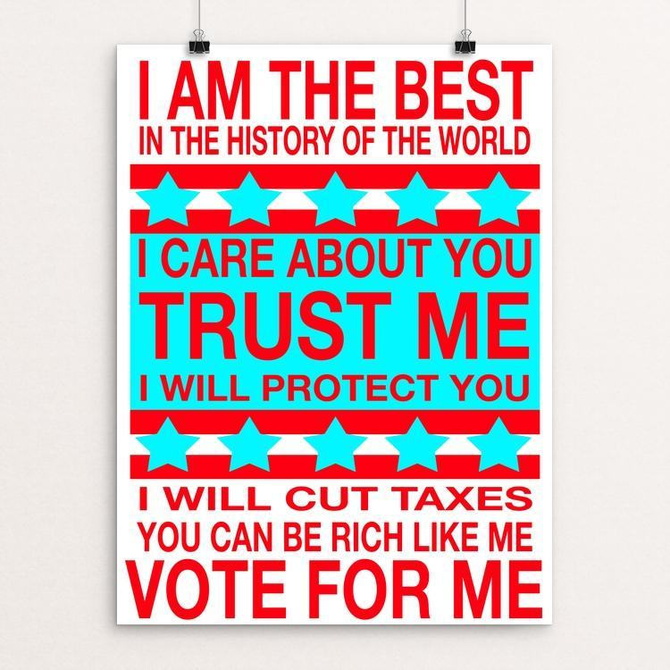 "Trust ME by Atabey Sanchez-Haiman 12"" by 16"" Print / Unframed Print Creative Action Network"