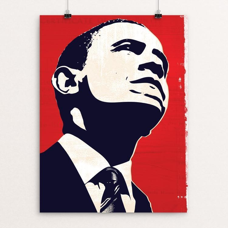 "Truth by Mark Forton 12"" by 16"" Print / Unframed Print Design for Obama"
