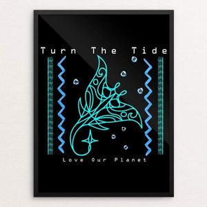 "Turn The Tide - Love our Planet Native Manta Ray Guardian by Tina Schofield 18"" by 24"" Print / Framed Print Creative Action Network"