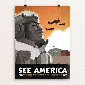 "Tuskegee Airmen National Historic Site by DK Ferriby 12"" by 16"" Print / Unframed Print See America"