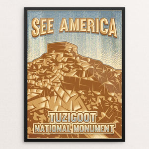 "Tuzigoot National Monument by Roberlan Borges 12"" by 16"" Print / Framed Print See America"