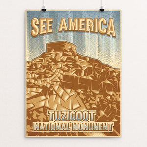 "Tuzigoot National Monument by Roberlan Borges 12"" by 16"" Print / Unframed Print See America"