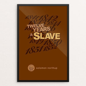 "Twelve Years a Slave by Robert Wallman 12"" by 18"" Print / Framed Print Recovering the Classics"