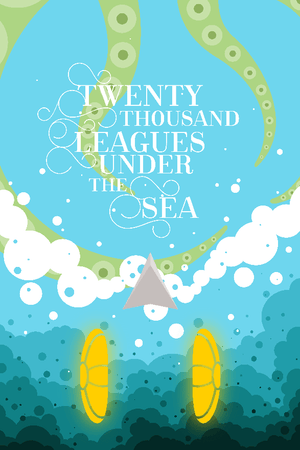 "Twenty Thousand Leagues Under the Sea by Ben Farrow 12"" by 18"" Print / Unframed Print Recovering the Classics"