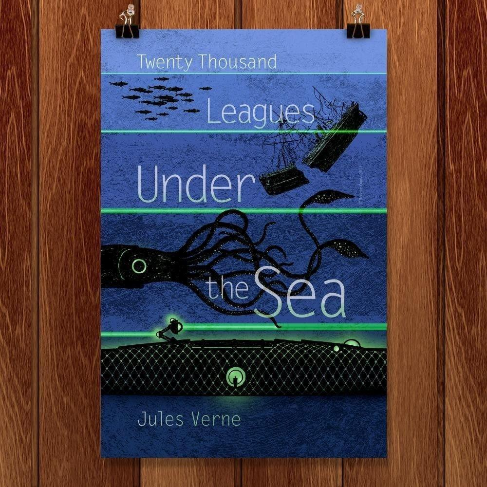"Twenty-Thousand Leagues Under the Sea by Brixton Doyle 12"" by 18"" Print / Unframed Print Recovering the Classics"