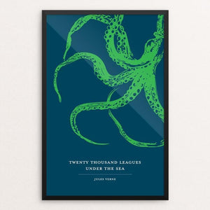 "Twenty-Thousand Leagues Under the Sea by Darrell Stevens 12"" by 18"" Print / Framed Print Recovering the Classics"