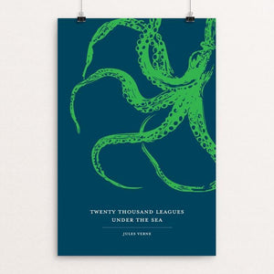 "Twenty-Thousand Leagues Under the Sea by Darrell Stevens 12"" by 18"" Print / Unframed Print Recovering the Classics"