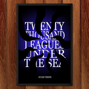 "Twenty-Thousand Leagues Under the Sea by J.R.J. Sweeney 12"" by 18"" Print / Framed Print Recovering the Classics"