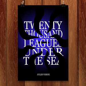 "Twenty-Thousand Leagues Under the Sea by J.R.J. Sweeney 12"" by 18"" Print / Unframed Print Recovering the Classics"