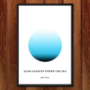 "Twenty Thousand Leagues Under the Sea by Janet Wright 12"" by 18"" Print / Framed Print Recovering the Classics"