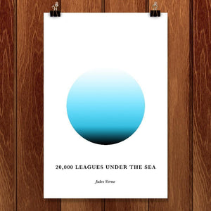 "Twenty Thousand Leagues Under the Sea by Janet Wright 12"" by 18"" Print / Unframed Print Recovering the Classics"