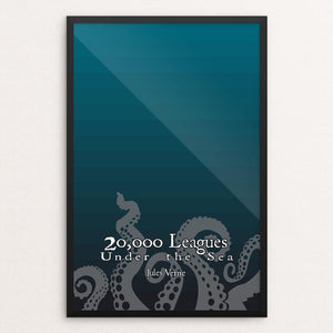 "Twenty Thousand Leagues Under the Sea by Jared Harward 12"" by 18"" Print / Framed Print Recovering the Classics"