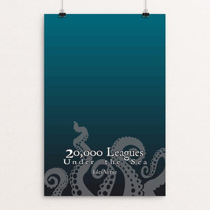 "Twenty Thousand Leagues Under the Sea by Jared Harward 12"" by 18"" Print / Unframed Print Recovering the Classics"