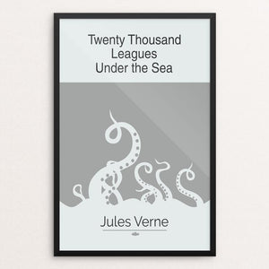"Twenty Thousand Leagues Under the Sea by Meredith Watson 12"" by 18"" Print / Framed Print Recovering the Classics"