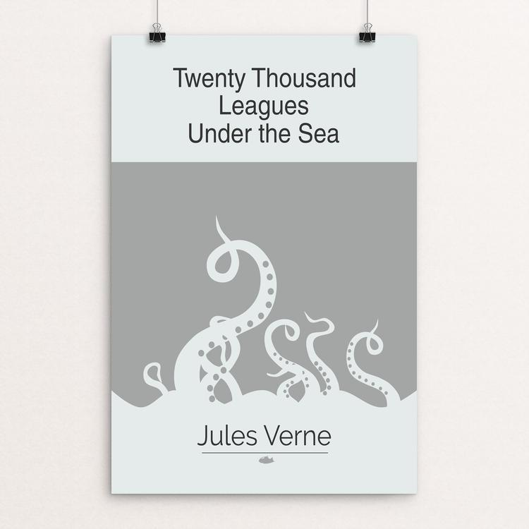 "Twenty Thousand Leagues Under the Sea by Meredith Watson 12"" by 18"" Print / Unframed Print Recovering the Classics"