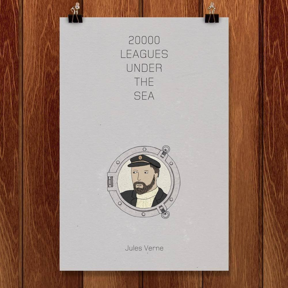 "Twenty-Thousand Leagues Under the Sea by Naomi Sloman 12"" by 18"" Print / Unframed Print Recovering the Classics"