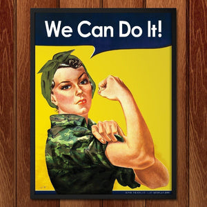 "U.S. Military Females by Kevin Bowen 12"" by 16"" Print / Framed Print We Can Do It!"