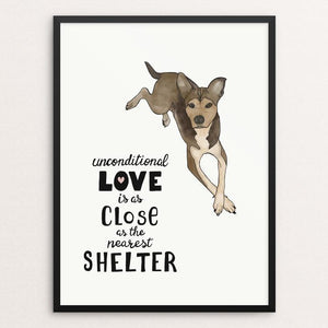 "Unconditional Love (Dog) by Jessica Gerlach 12"" by 16"" Print / Framed Print Creative Action Network"