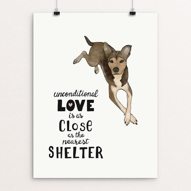 "Unconditional Love (Dog) by Jessica Gerlach 12"" by 16"" Print / Unframed Print Creative Action Network"