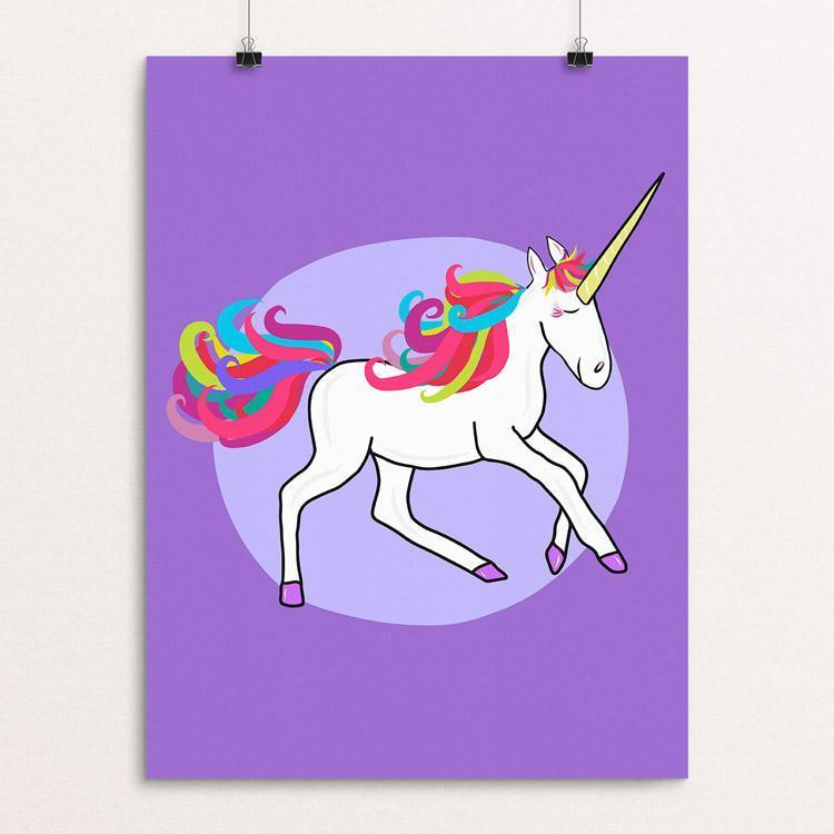 "Unicorn by Lauren Showering 12"" by 16"" Print / Unframed Print Creative Action Network"