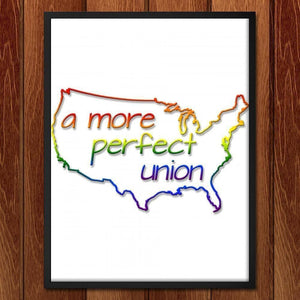 "Union - Coast to Coast by Michael Moats 18"" by 24"" Print / Framed Print A More Perfect Union"