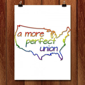 "Union - Coast to Coast by Michael Moats 18"" by 24"" Print / Unframed Print A More Perfect Union"